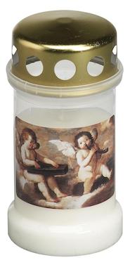 Bolsius Grablicht Dauerbrenner Nr 3 weiß mit Deckel