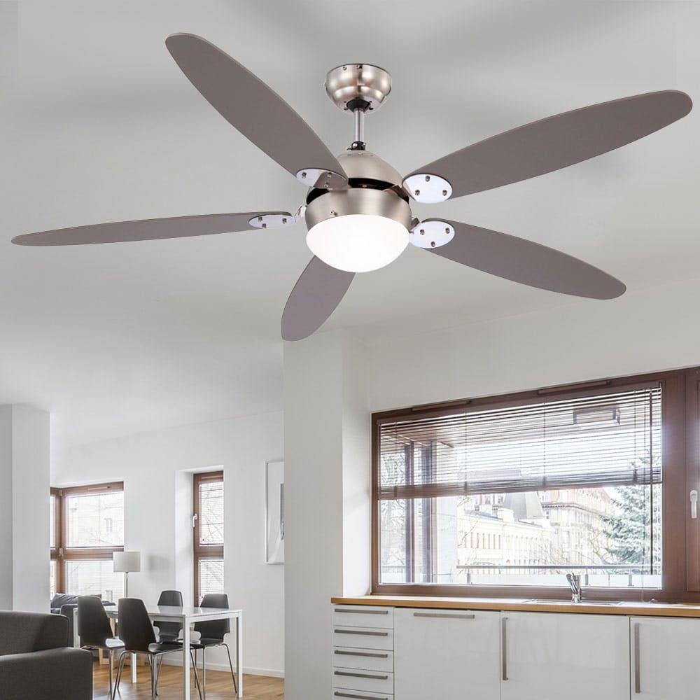 LED Decken Ventilator LEISE Beleuchtung Fernbedienung Lüfter Lampe Küche Leuchte