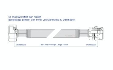 Flexschlauch DN8 10mm Quetschverschraubung Edelstahl Panzerschlauch Sanitär