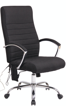 Bürostuhl Valais Stoff mit Massagefunktion schwarz   METRO