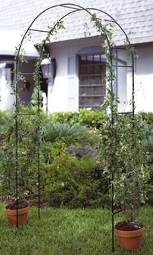 Rosenbogen aus Metall grün lackiert 240x140x37cm 62308