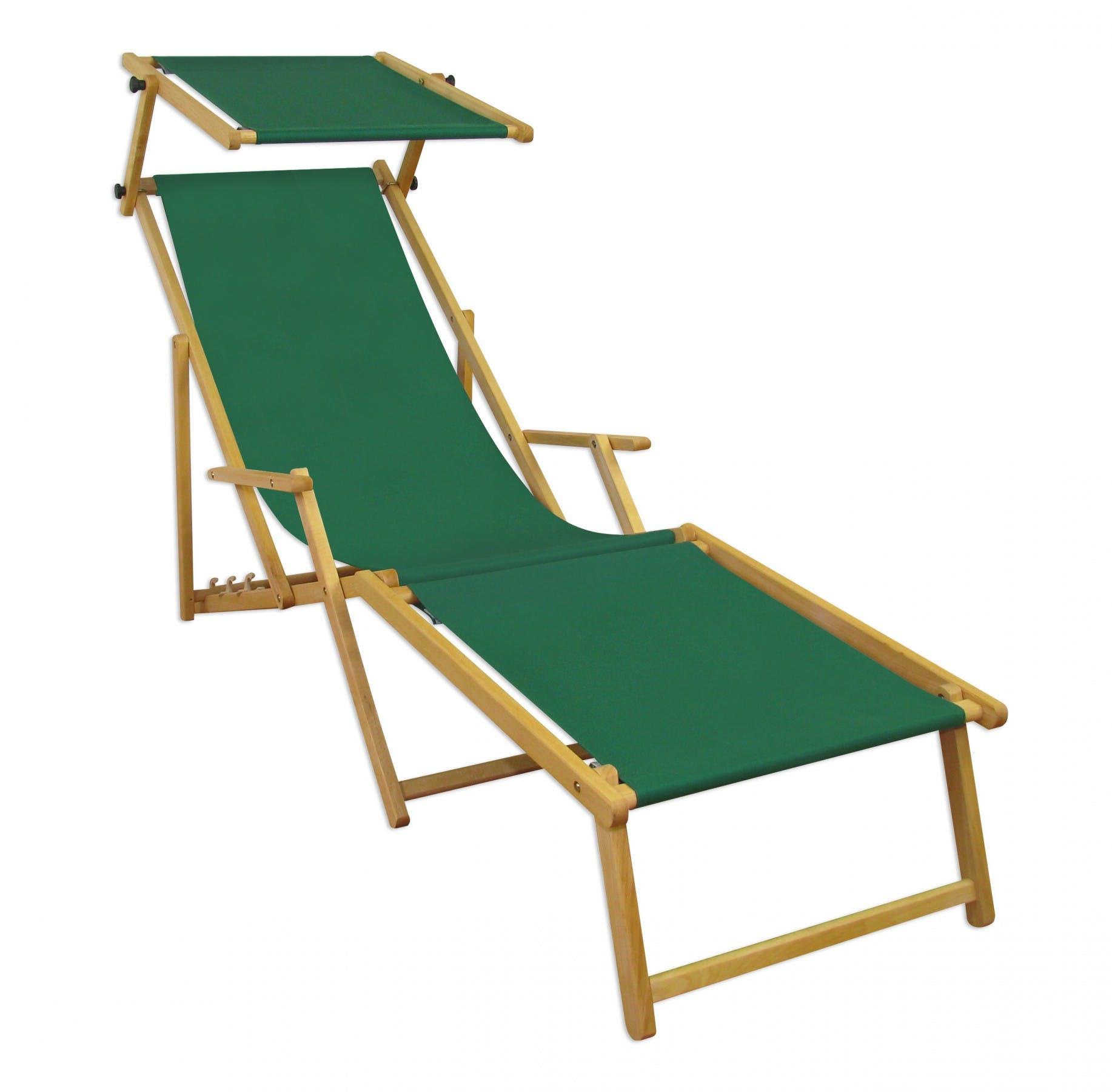 Gartenliege Sonnenliege Grun Liegestuhl Fussteil Sonnendach Deckchair Holz Gartenmobel 10 304nfs Metro Marktplatz