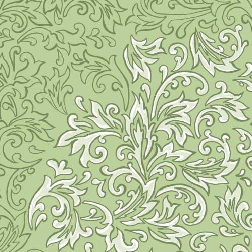 Ornamente Airlaid Serviette Bosse in Grün 40 x 40 cm Mank 50 Stück