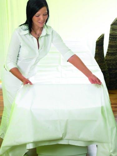 20 Stück Einweg Hygieneschutz Sovie Care PP-Vlies Kissenbezug 50 x 70 cm