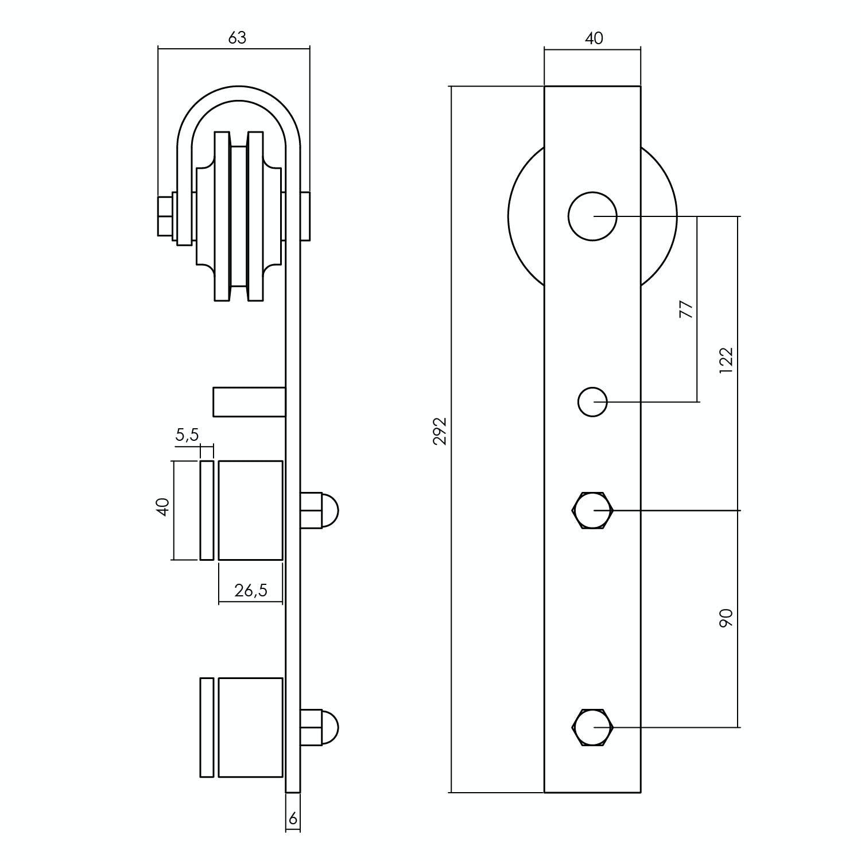 Schiebetürsystem Glasschiebetür Glasschiebetürsystem Schwarz 2 Meter erweiterbar