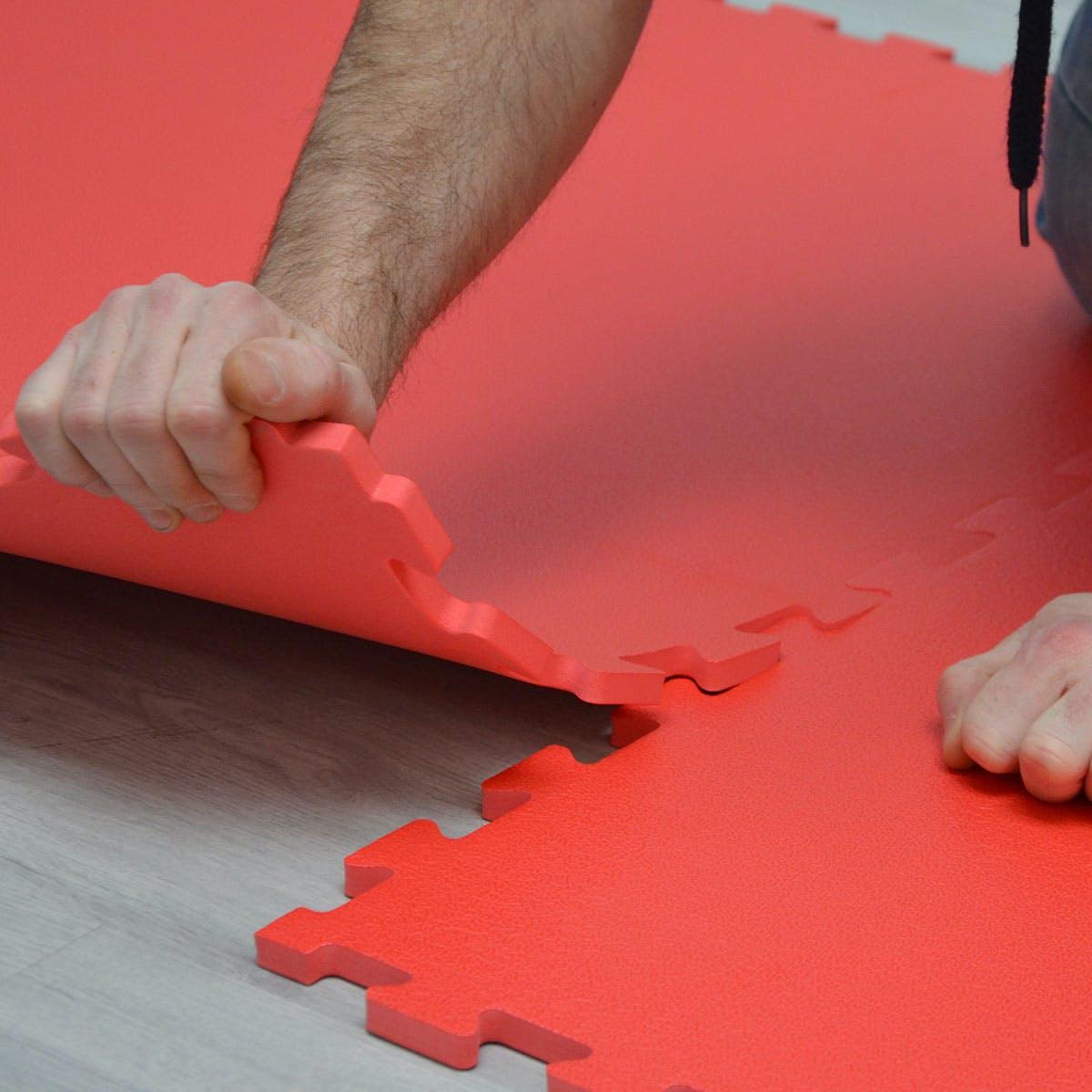 12mm dicke Bodenschutz Matte 90x90cm Trainingsmatte Yoga-PuzzleMatte erweiterbar