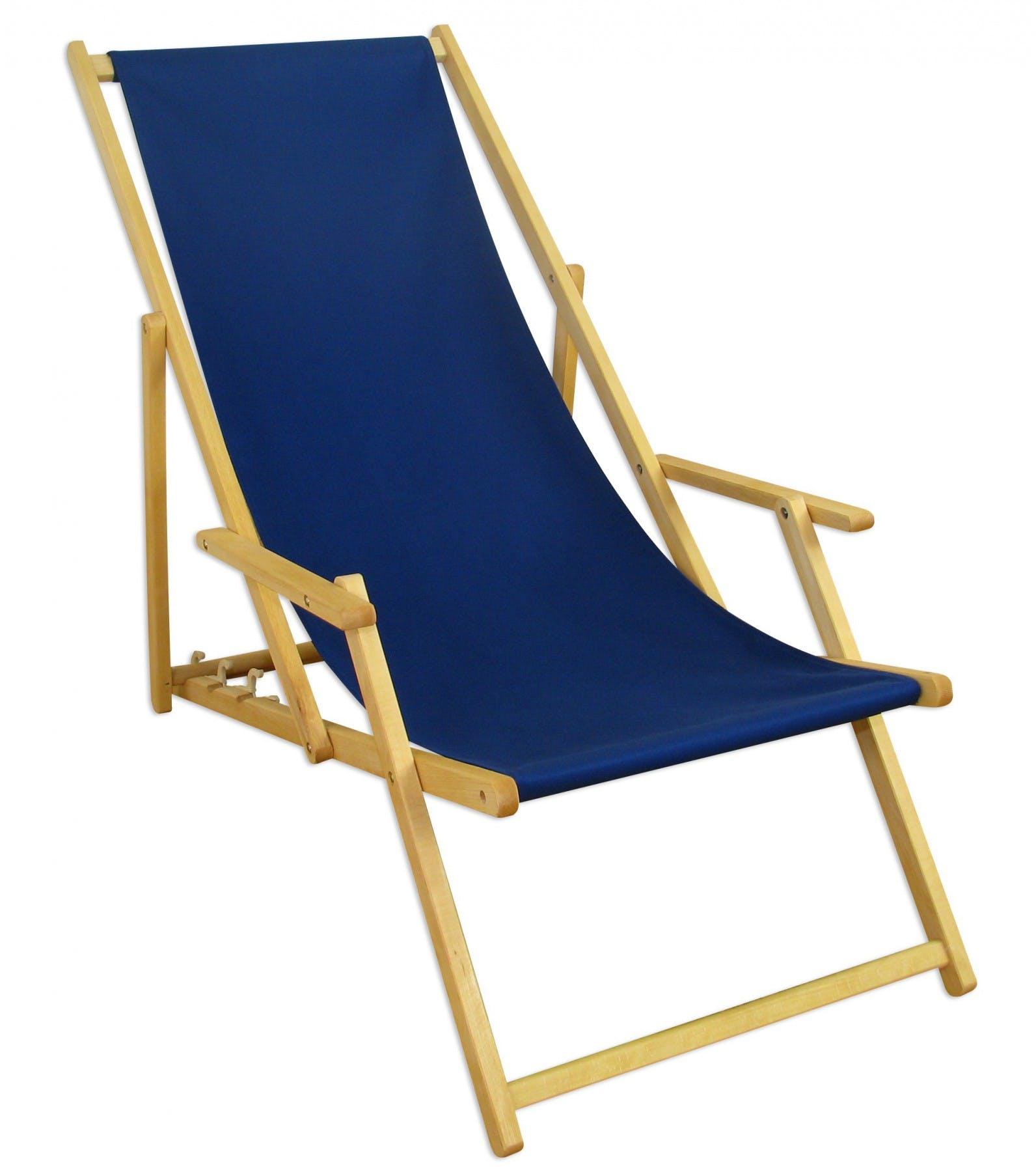 Liegestuhl Blau Gartenstuhl Strandstuhl Klappliege Sonnenliege Relaxliege Deckchair Buche 10 307n Metro Marktplatz