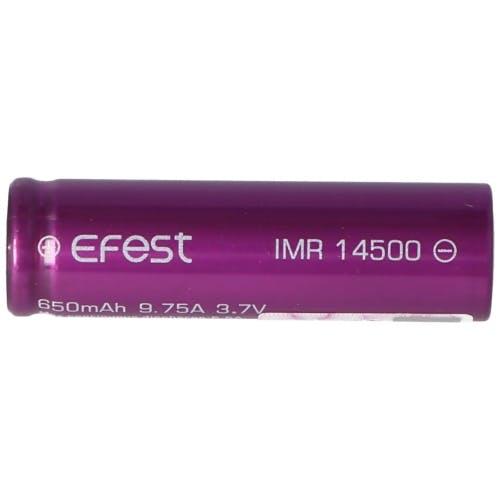 Pluspol flach 3,7V Li-Ion-Akku Efest IMR 14500-650mAh 3,6V