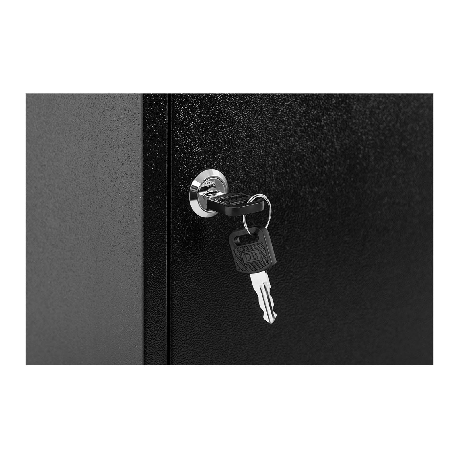 Schlüsselkasten Schlüsselbox High Security für 150 Schlüssel mit Anhänger grau