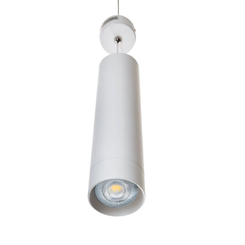 Pendelleuchte GU10 LED Ø60x250mm Hängelampe Deckenleuchte Hängeleuchte Aluminium