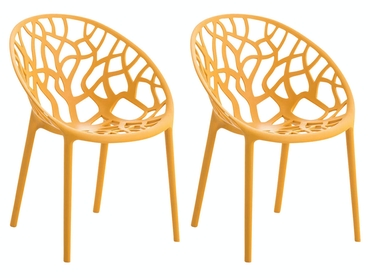 Stühle in Gelb In- und Outdoor geeignet (2er Set)