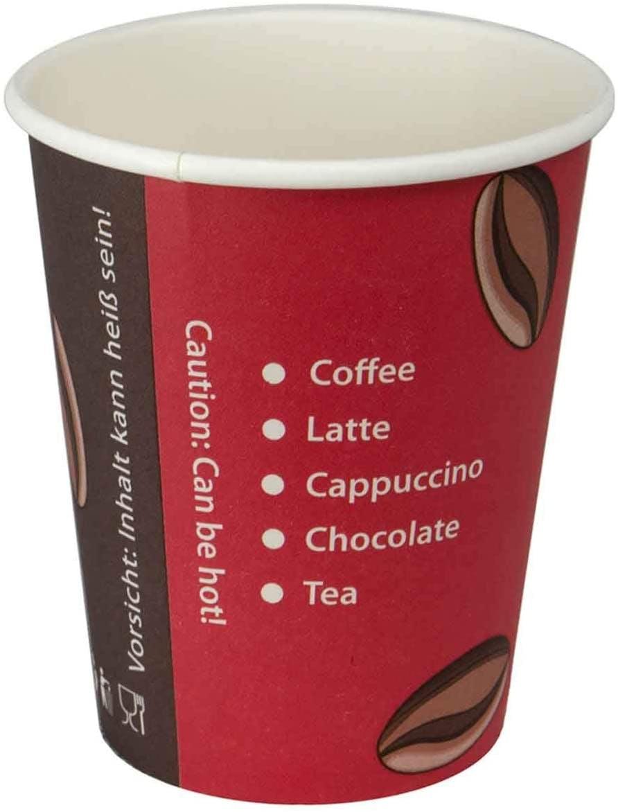 1000 Coffee to Go Becher 200ml Ideal für Kaffee Tee Heißgetränke Pappbecher