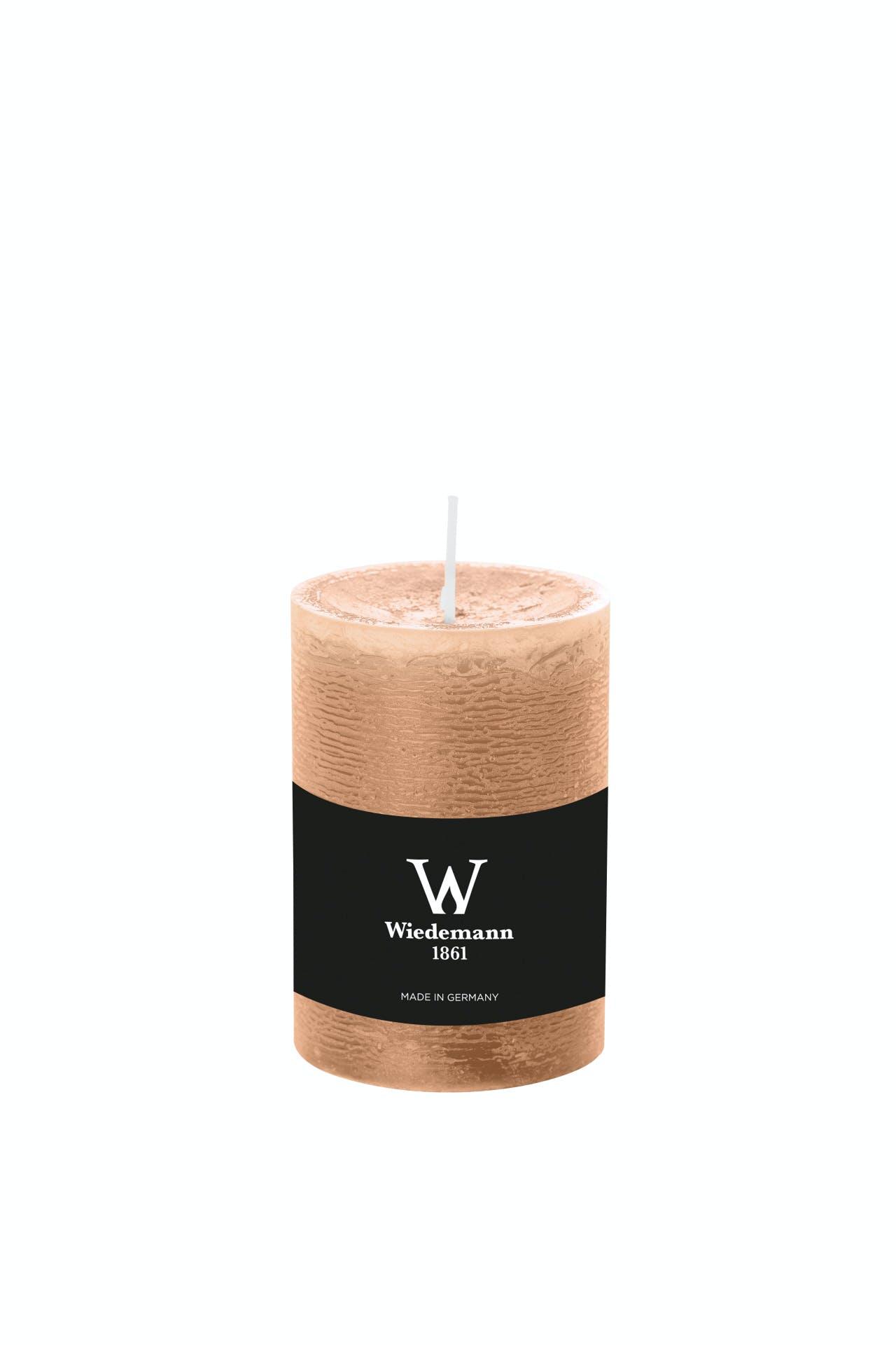 Wiedemann Marble Rustik Kerzen, Stumpenkerzen, Nude 120 x