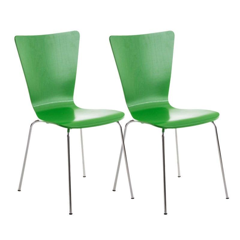 2er Set Besucherstuhl Aaron Wartezimmer Stuhl hellblau