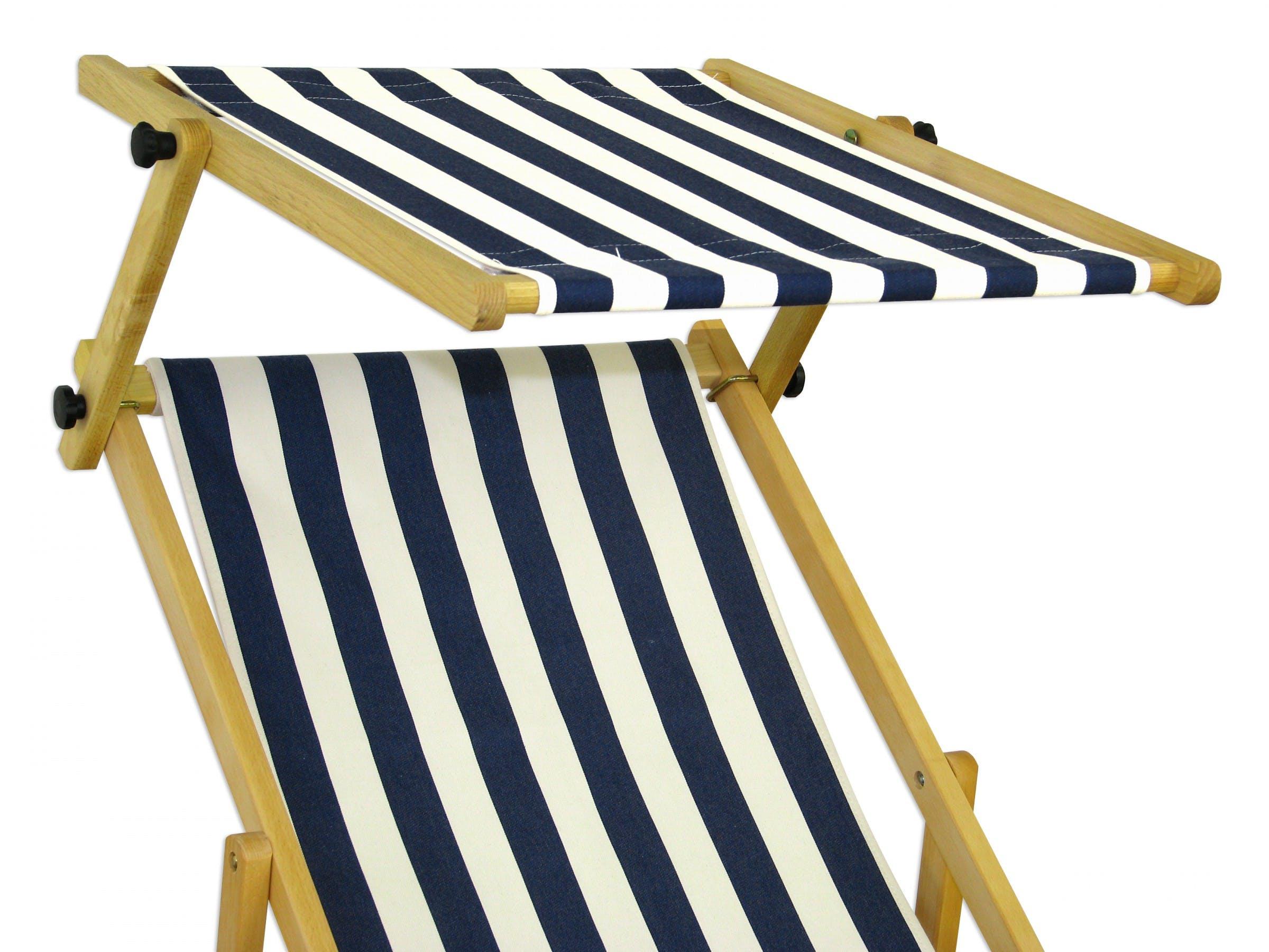 Liegestuhl Blau Weiss Gartenliege Sonnenliege Sonnendach Strandstuhl Buche Klappbar 10 317 N S Metro Marktplatz