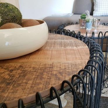 Couchtisch rund ø 50 cm Wohnzimmer Tisch Beistelltisch York